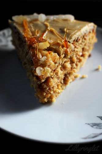 Bake off blog challenge caramel cake recipe